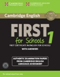 Cambridge english first for schools 1 student's book with answers + audio cd's