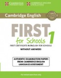 "Cambridge english first for schools 1 student""s book without answers"
