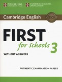 Cambridge English First for Schools 3 Student's Book without Answers