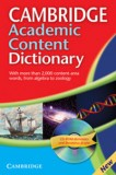 Cambridge Academic Content Dictionary Reference Book + CD