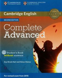 Complete Advanced Student's Book without answers z płytą CD - Brook-Hart Guy, Haines Simon