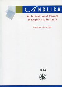 Anglica an international journal of english studies 23/1 - brak