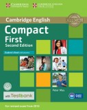 Compact First Student's Book with Answers + CD with Testbank